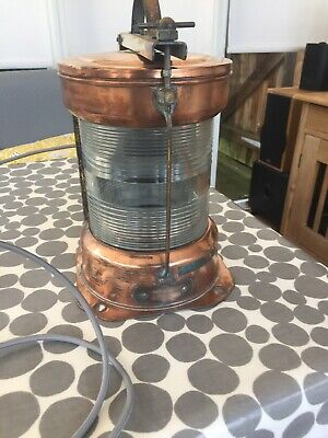original ships lamp: old royal navy ships Masthead light Restored