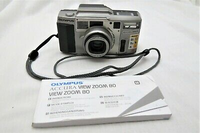 Olympus Accura View 80 35mm AF Camera Instruction Book - Tested Works