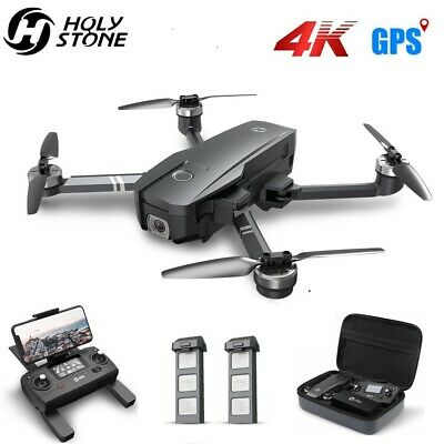 Holy Stone HS720 GPS drone with 4K camera brushless foldable 2 battery case gray