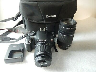 Canon EOS Rebel T6 18.0MP Digital SLR Camera with 18-55 mm and 75-300 mm...