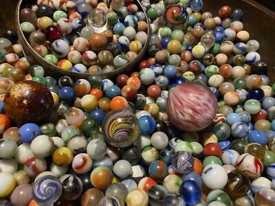 Antique Marble lot 20 Stunning top shelf marbles my personal collection MUST SEE