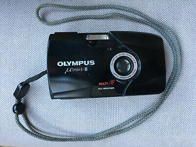 Olympus µ Mju II 35mm Compact Film Camera with 35 mm lens Kit