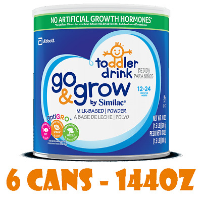 6 Cans Similac Go & Grow Milk-Based Toddler Drink 144oz Total Powder Ex 04/2020