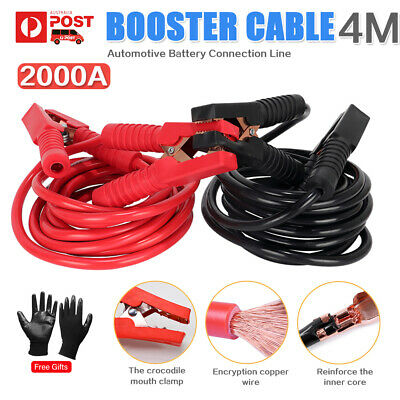 2000AMP Heavy Duty Jumper Cables 4M Car Booster Jump Leads Surge Protected Clamp