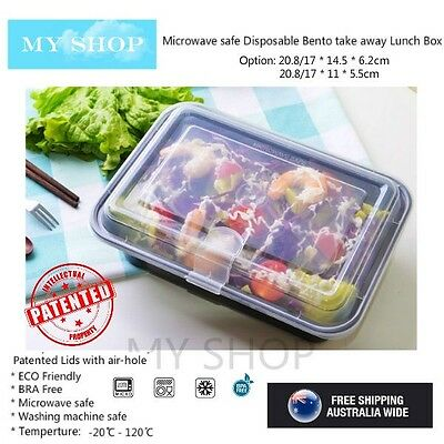 20 Pack Extra Thick Take away Lunch Box Food Container with Air Cap Lid -- 828ml
