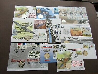 Gb/Commonwealth - Fine Collection Of Coin Covers - All Aviation Themed