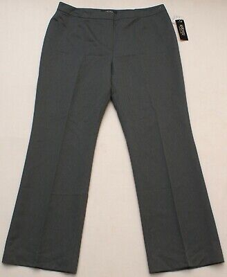 KASPER Women's Gray Pinstripe Career Office Wear Dress Pants, Size 14P, NEW