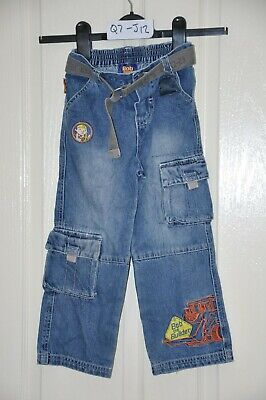"BOB THE BUILDER boy's blue jeans, age 3-4yrs, height 104cm / 41"", waist 52cm"