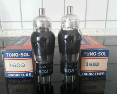 Tung Sol  matched pair 1603 tubes Röhren