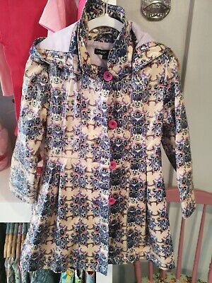 Girls M&S Autograph Floral Pansy And Butterfly Raincoat Age 3-4 Years