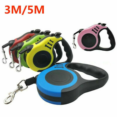 Dog Leash Retractable Walking Pet Small Rope Traction Automatic Collar 16FT 10FT