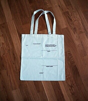 OFF-WHITE x Moon & The Wild Canvas Tote Bag White