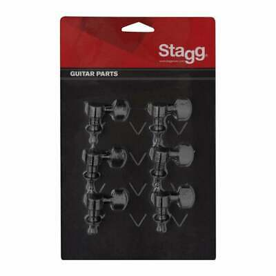 Stagg KG673 6x1 Individual Electro-Acoustic Guitar Machineheads Black Set of 6