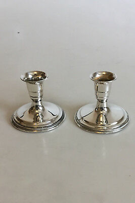 Svend Toxvard A Pair of Candle Holders in Silver
