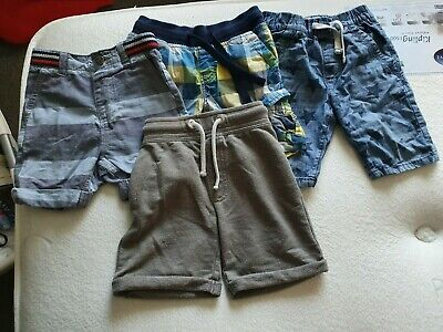 Boys bundle of 4 pairs of shorts (2 are next) Age 2-3 Years excellent Condition