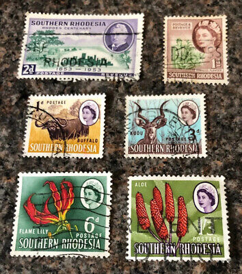 British Commonwealth Stamps. Southern Rhodesia Stamps. 1953-64