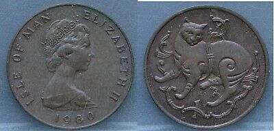 Isle of Man - one 1 penny 1980 AC