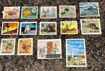 British Commonwealth Stamps. Rhodesia Stamps. Mixture