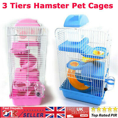 Large Hamster Cage Gerbil Mouse Mice Small Pet Cages 3 Tiers Storey Level Hutch