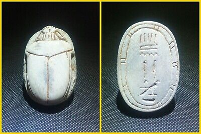 EGYPTIAN ANTIQUE ANTIQUITIES Scarab Beetle Khepri Figure Sculpture 1549-1171 BC