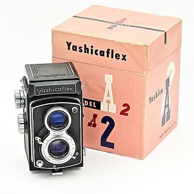 YashicaFlex Model A2 Twin Lens TLR 120 6x6 Film Camera