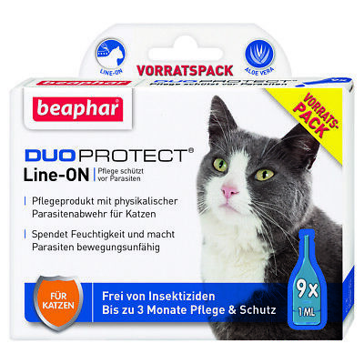 Beaphar Duoprotect pour Chats, 9 x 1 ML, Neuf