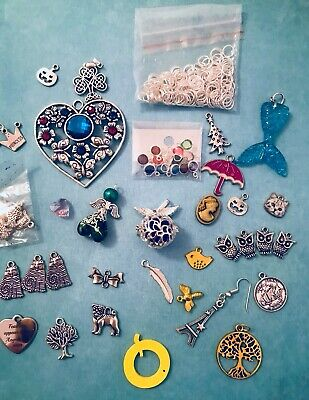 Mixed Charms Lot Muxed Charms Jewellery Making Crafters Clear  Out