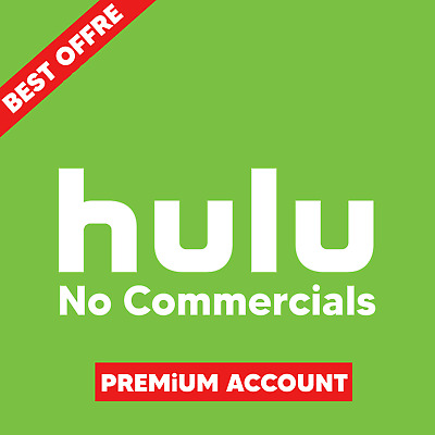 Hulu Premium Account Subscription No Commercials Full 1 Year Access & Warranty