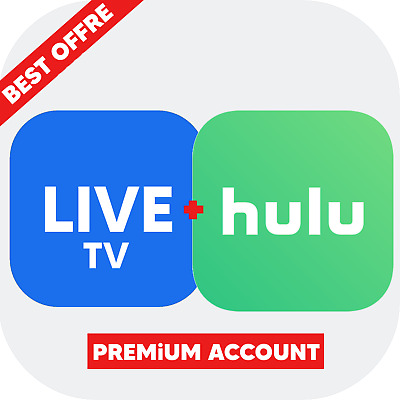 Hulu + Live TV Premium Account Subscription Full 1 Year Access & Warranty