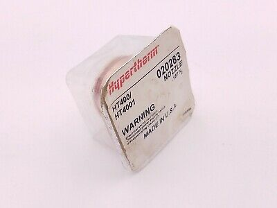 Hypertherm 020283 Nozzle HT400 HT4001 Plasma Cutting Systems PAC-600 Torch NOS
