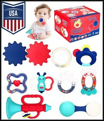 Variety Pack Baby Teething Toys - Assorted Rattles, Shakers for Teething Relief