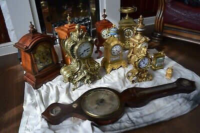 antique clocks job lot