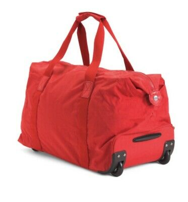 Kipling Art on Wheels Rolling Carry On Luggage Duffle Tote NWT
