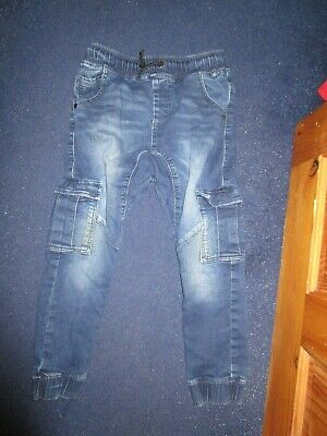 boys boy age 9 years next jeans elasticated waist cuff ankle
