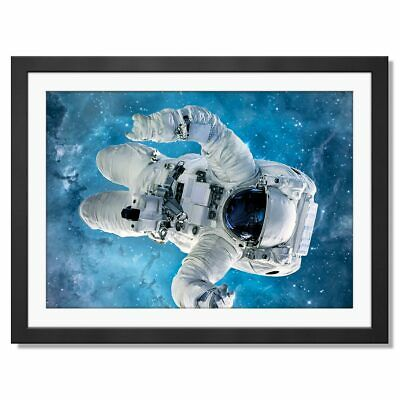 Awesome Astronaut Poster Print Size A4 A3 Outer Space Travel Poster Gift #8598