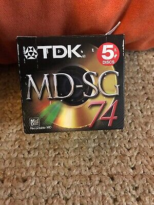 5 TDK MD-SG 74 Recordable Mini Disc New Sealed