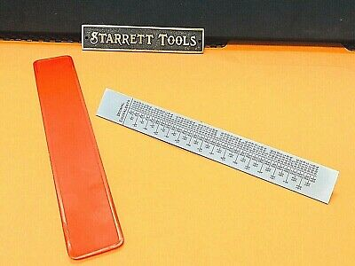 "STARRETT No.C622R-6  6"" Steel Rule With Decimal Equivalents & Quick Inch Reading"