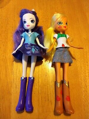 My Little Pony Equestria Girls Doll Rarity Purple Apple Jack Dolls Lot