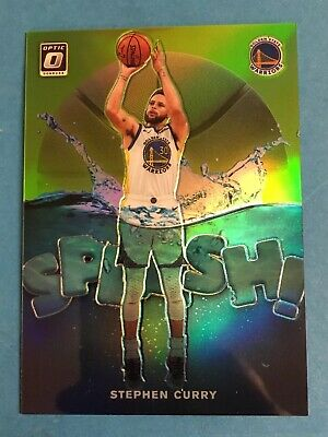 STEPHEN CURRY 2019-20 Panini Optic Lime Green Prizm Refractor Splash Insert /149