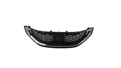 Grill for 2013-2015 Honda Civic Sedan Front Upper Grille With Trim Chrome 1pc