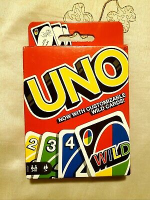 UNO Card Classic Game Player Customizable Wild Card Matching Colors Numbers Deck