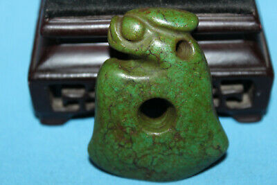 Chinese jadeware Hongshan culture turquoise carved amulet