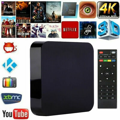 S805 Smart TV Box 1G+8G 4K HDR Android 4.4 Set Top Home Movies Media Player eH