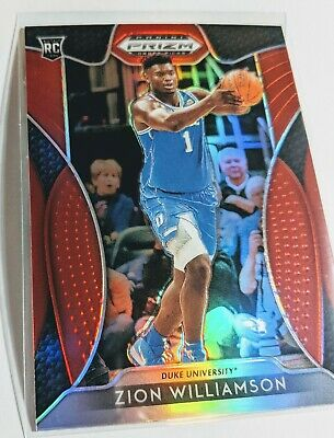 2019-20 Prizm Draft Picks Zion Williamson Rookie Red New Orleans Pelicans #64