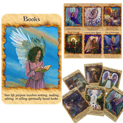44pcs Angel Therapy Oracle Cards Playing Board Game Cards Gift 102mm*74mm