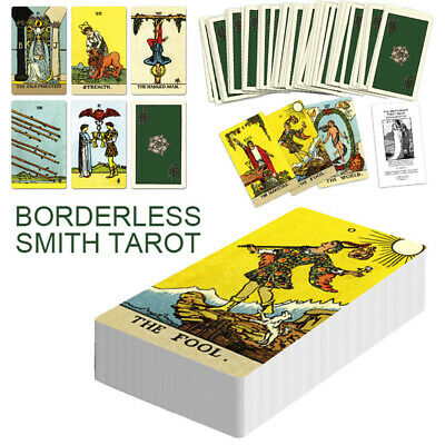 78pcs Borderless Edition Tarot Deck Cards Playing Board Game Cards Gift