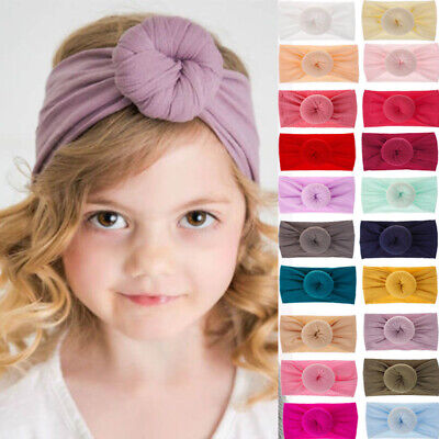 Baby Girls Kids Toddler Bow Knot Hair Band Headband Stretch Turban Headwrap Lots
