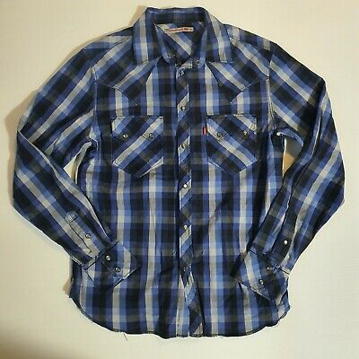 LEE Regular Western Shirt Faded Blue L516BISQ LS Snap Button SLIM FIT