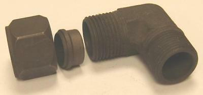 """Hydraulic Compression Male Stud Elbow Tube Coupling 3/4"""" 19.1mm x 3/4"""" NPT"""