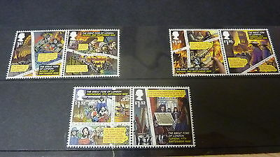 2016 The Great Fire Of London Stamp Set